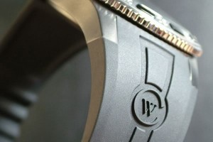 Strap detail 300x200 Christopher Ward Kingfisher Diver Pro review