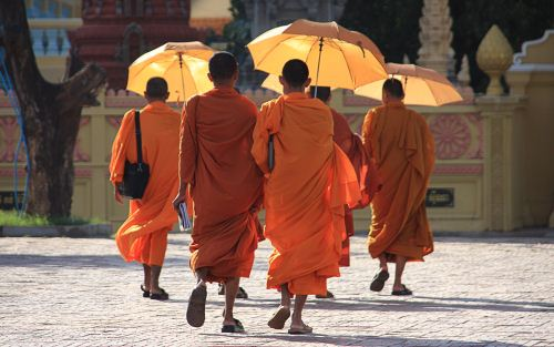 Cambodian Priests The Buddhist Wallpaper Collection