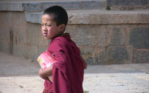 Young Tibetan Temple Priest The Buddhist Wallpaper Collection
