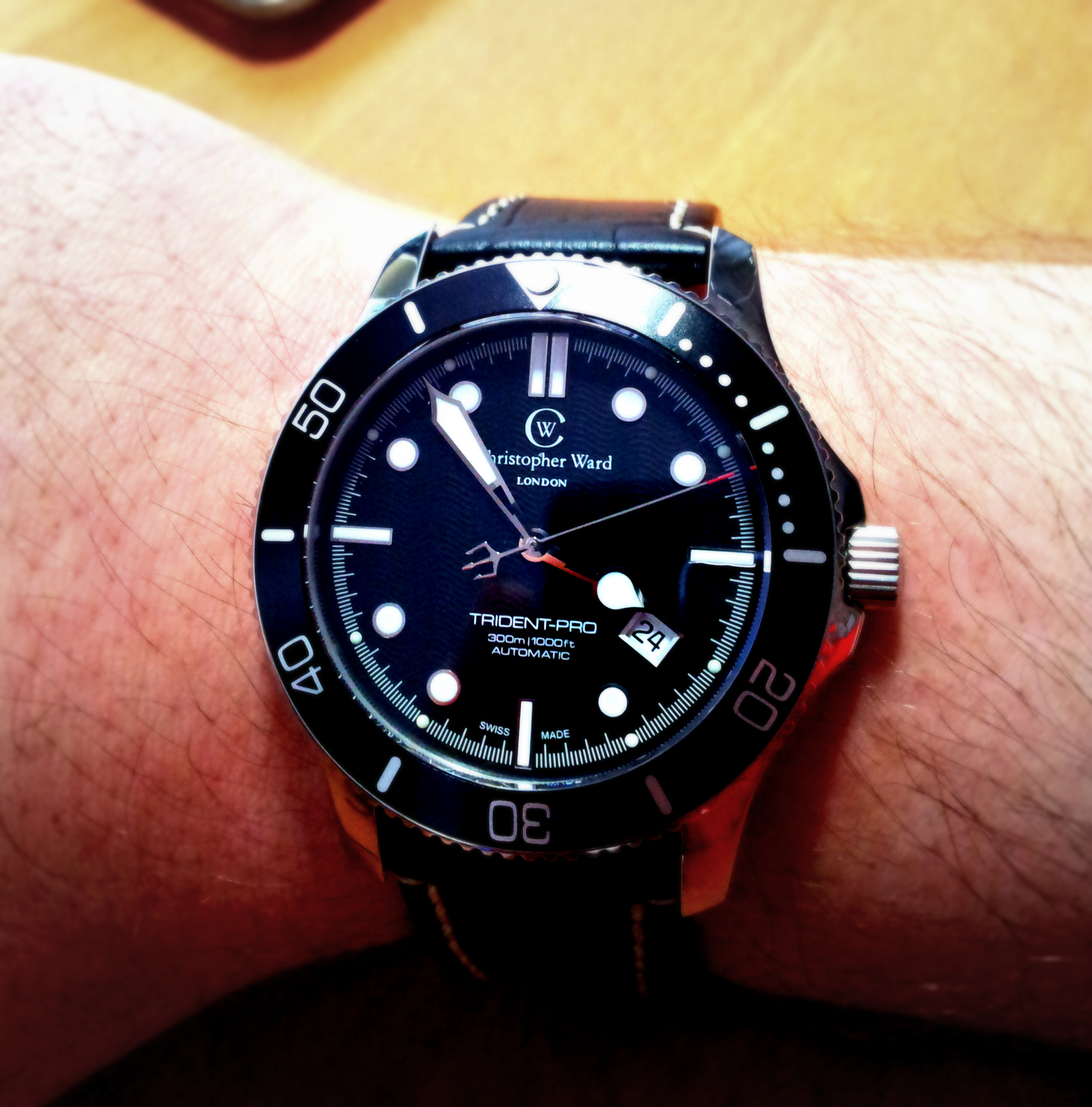 20120224 155416 001 Christopher Ward Kingfisher Diver Pro review