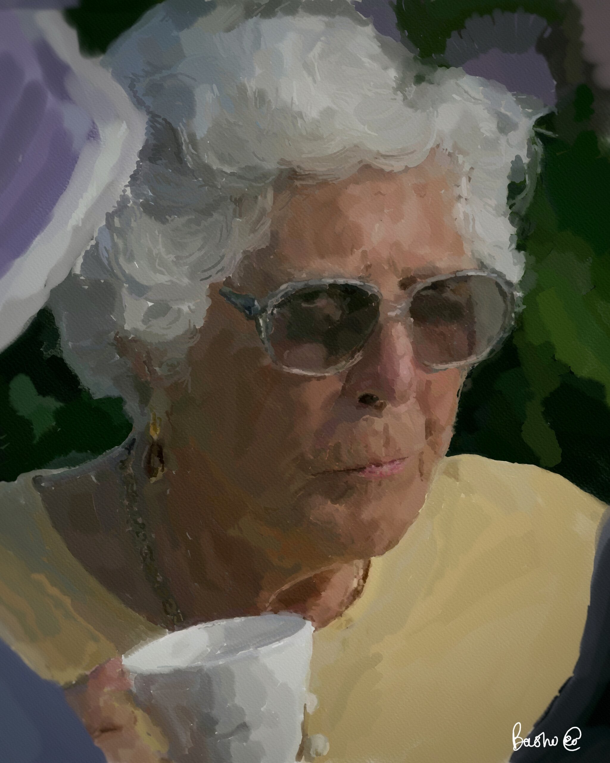 """Grandma at the wedding"" – Digital Watercolour"